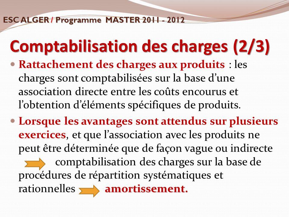 Comptabilisation des charges (2/3)