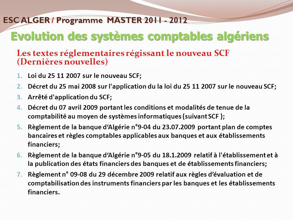 Evolution des systèmes comptables algériens