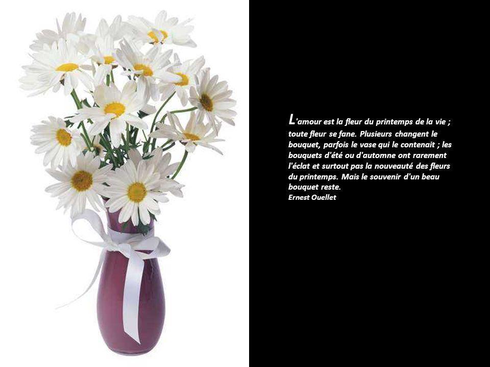 L amour est la fleur du printemps de la vie ; toute fleur se fane