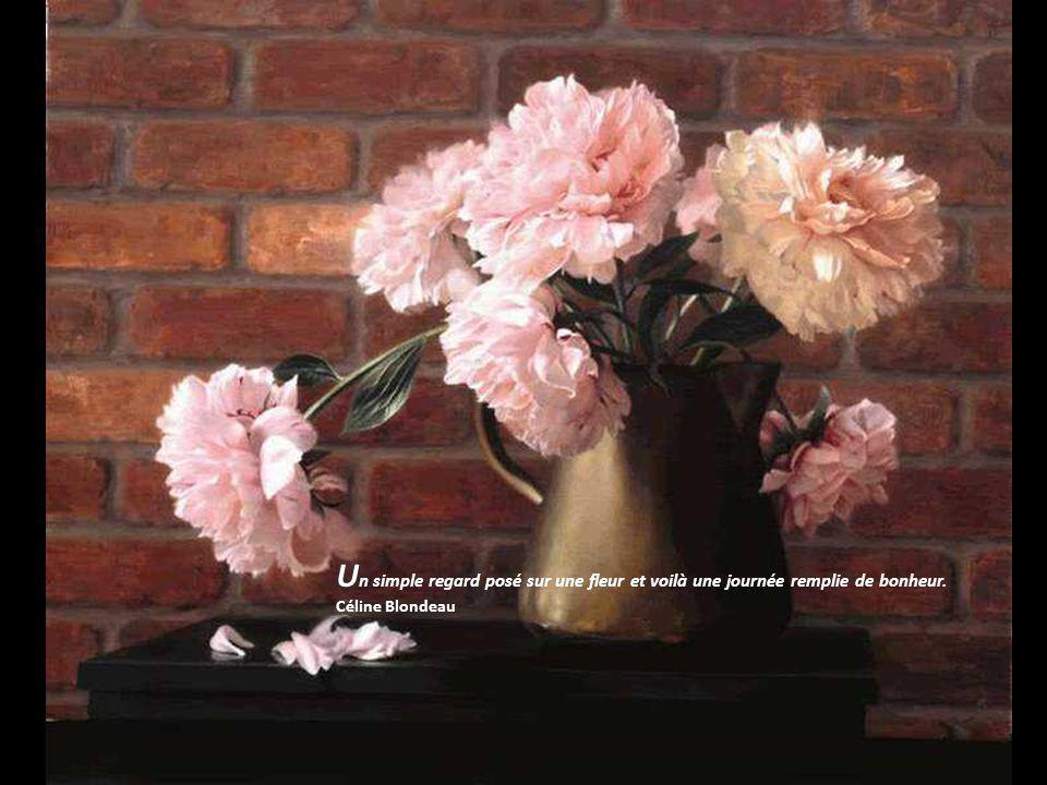 Un simple regard posé sur une fleur et voilà une journée remplie de bonheur. Céline Blondeau
