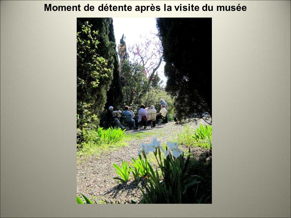 Moment de détente après la visite du musée