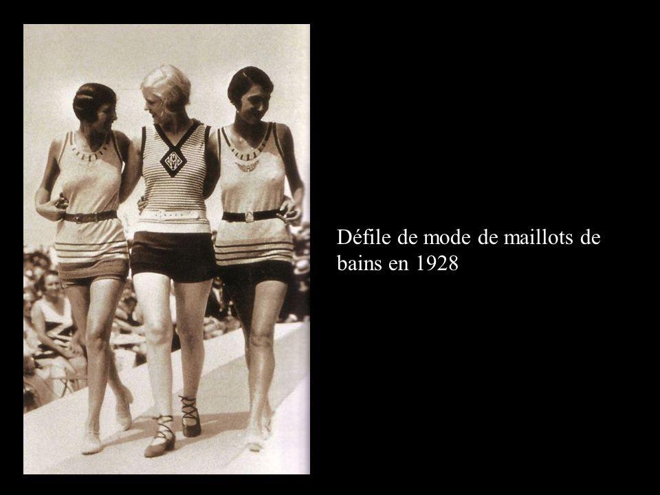 Défile de mode de maillots de bains en 1928