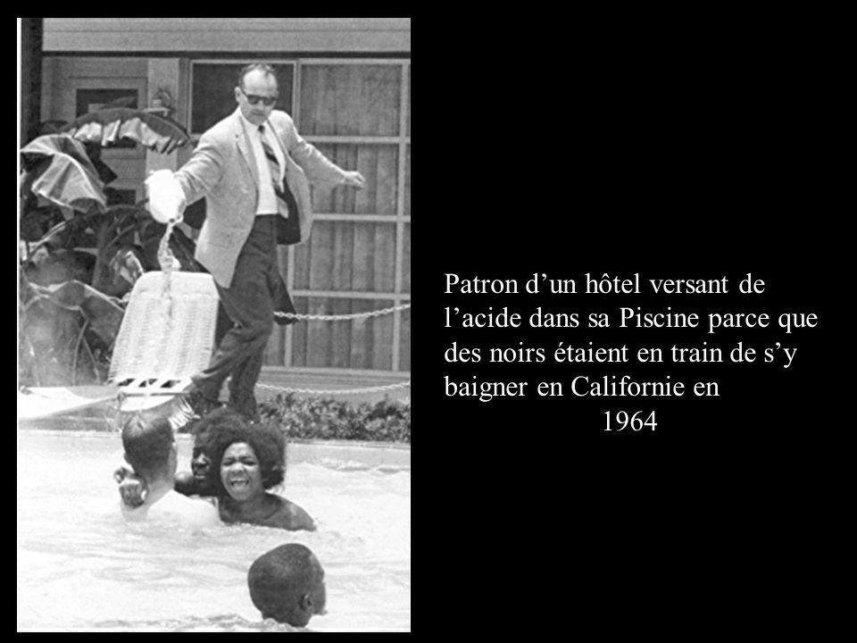 Patron d'un hôtel versant de l'acide dans sa Piscine parce que des noirs étaient en train de s'y baigner en Californie en