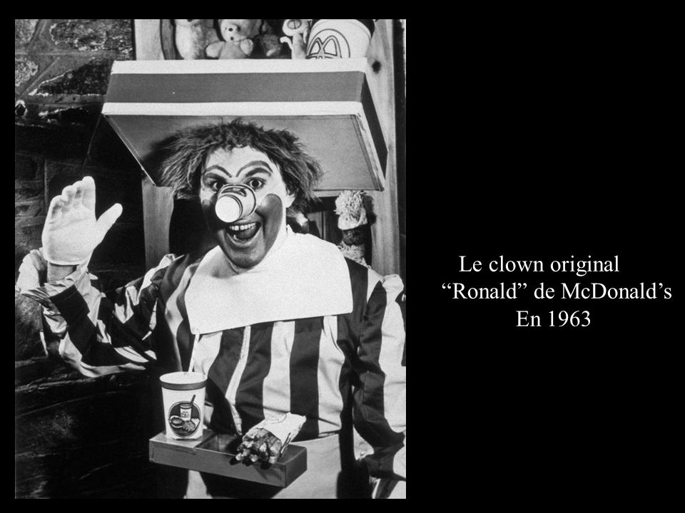 Le clown original Ronald de McDonald's En 1963