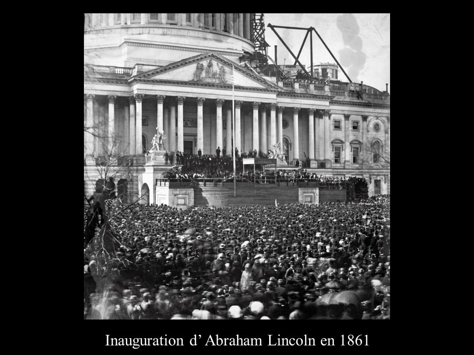 Inauguration d' Abraham Lincoln en 1861