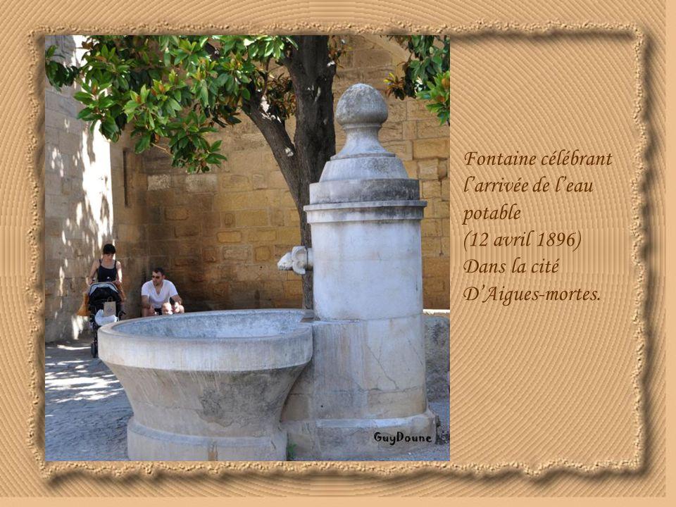 Fontaine célébrant l'arrivée de l'eau potable