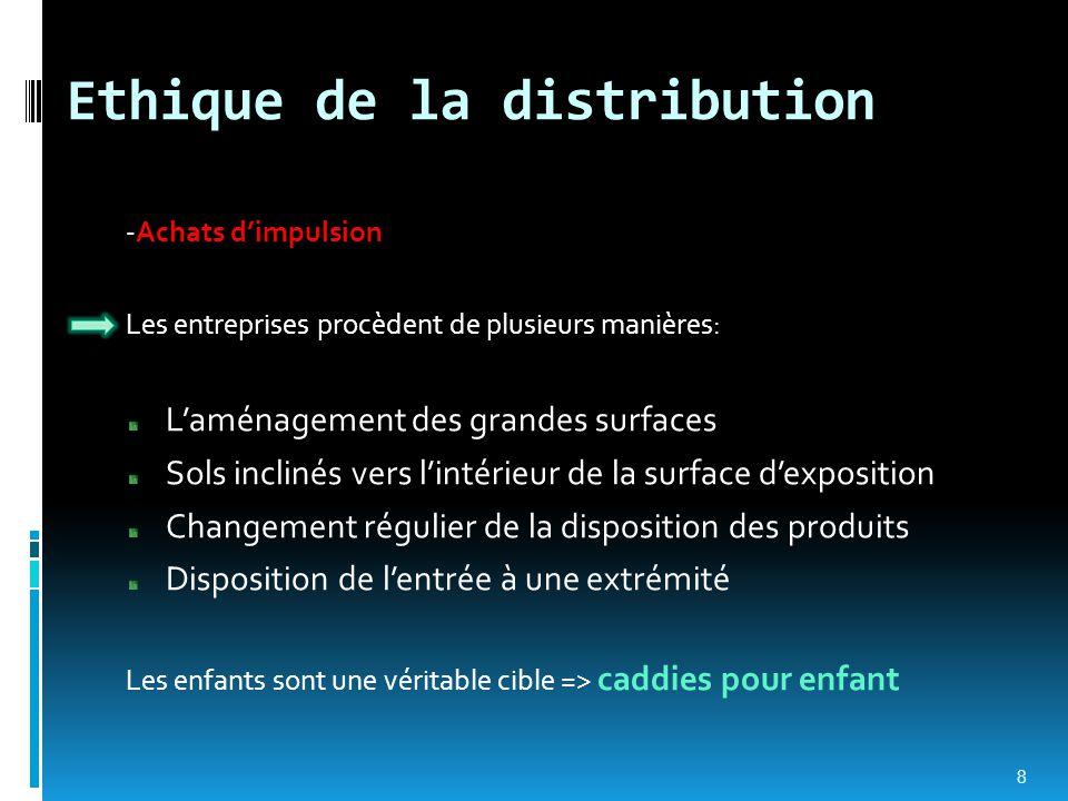 Ethique de la distribution
