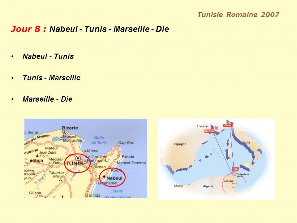 Jour 8 : Nabeul - Tunis - Marseille - Die