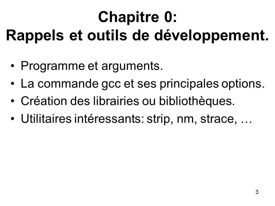 Chapitre 0: Rappels et outils de développement.