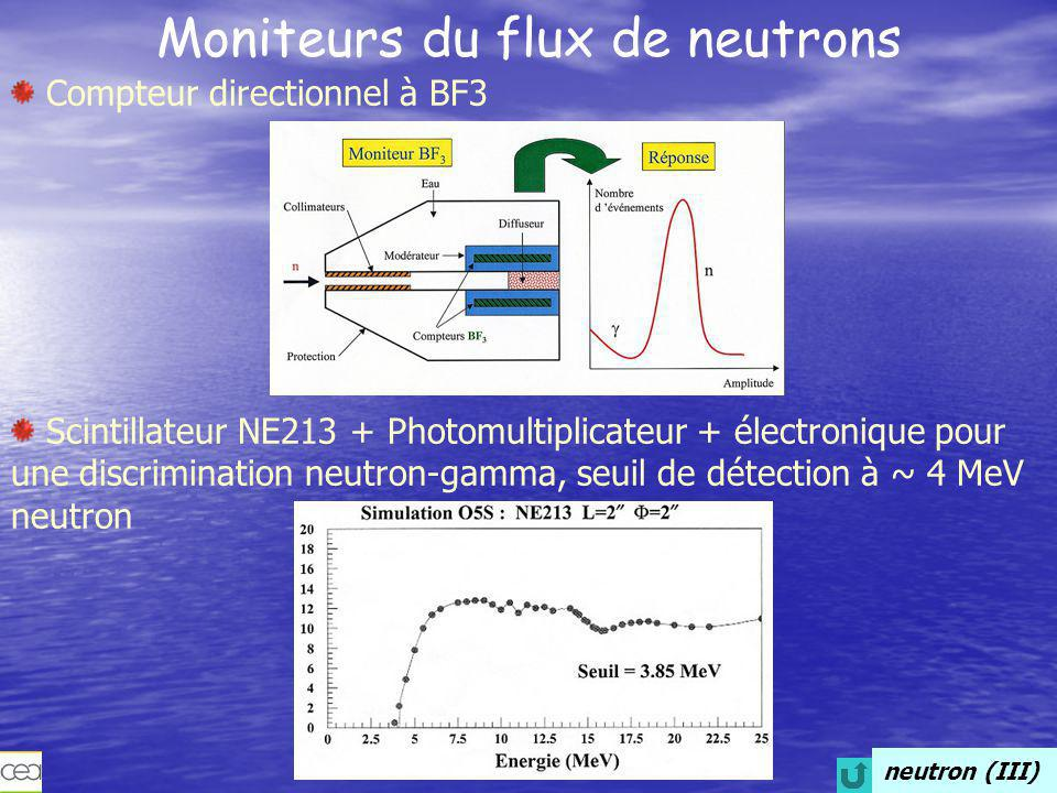 Moniteurs du flux de neutrons