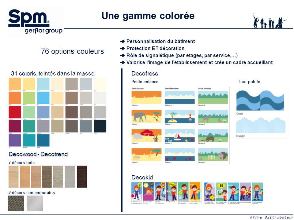 Une gamme colorée 76 options-couleurs