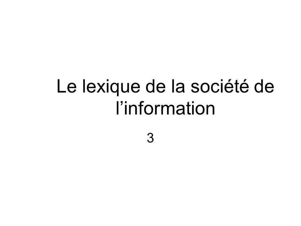 Le lexique de la société de l'information