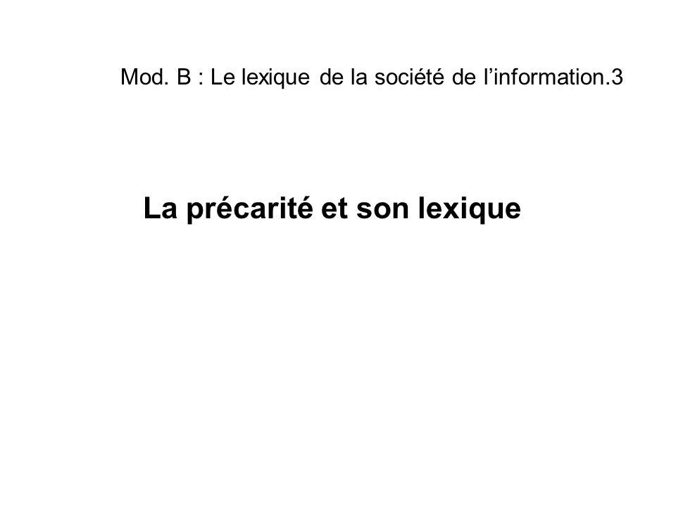 Mod. B : Le lexique de la société de l'information.3