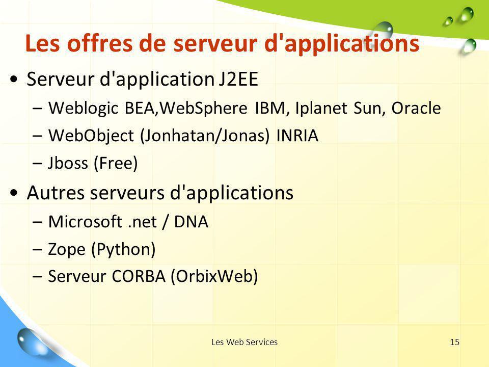 Les offres de serveur d applications