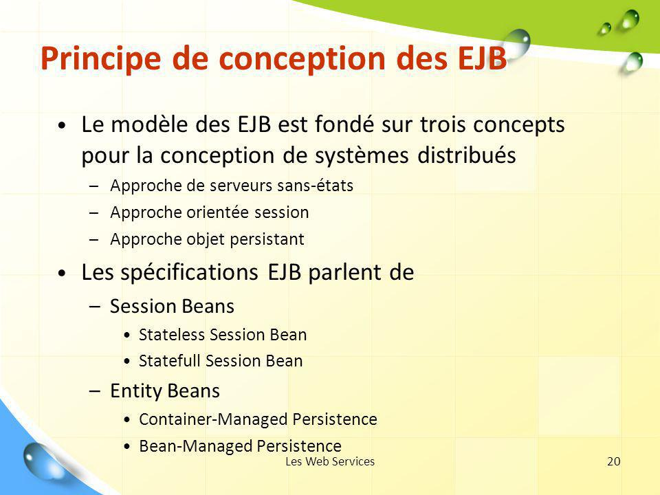 Principe de conception des EJB