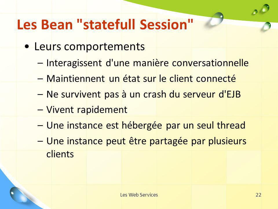Les Bean statefull Session