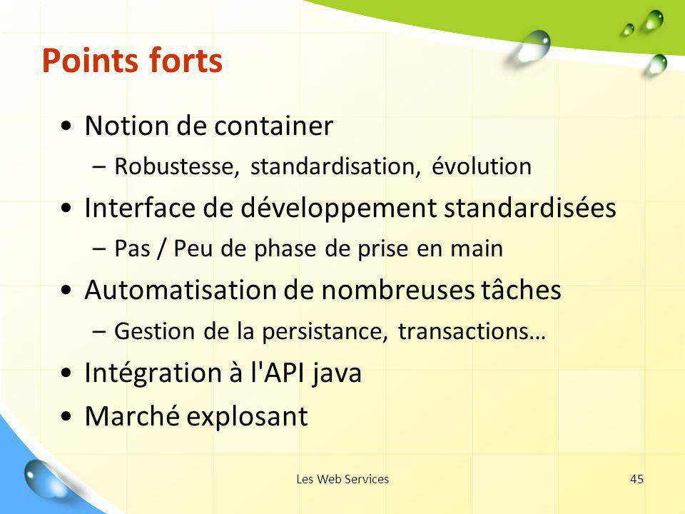 Points forts Notion de container