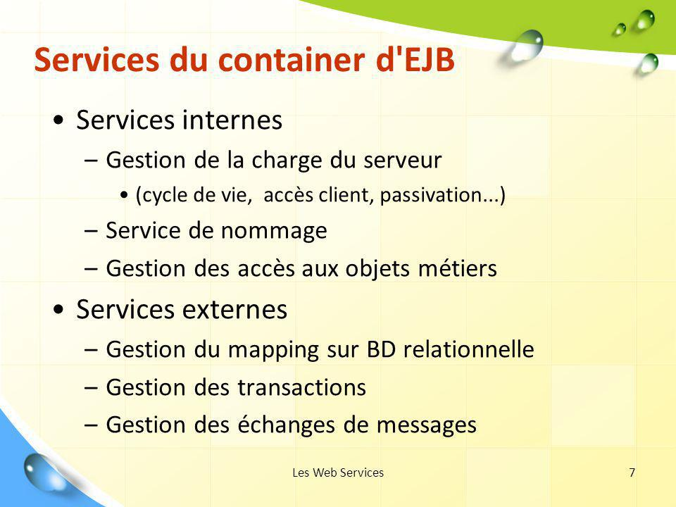 Services du container d EJB