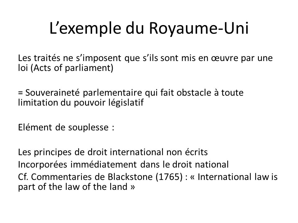 L'exemple du Royaume-Uni