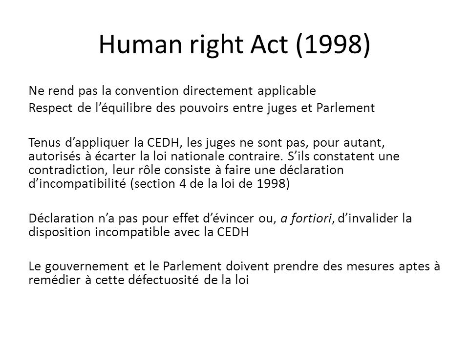 Human right Act (1998)