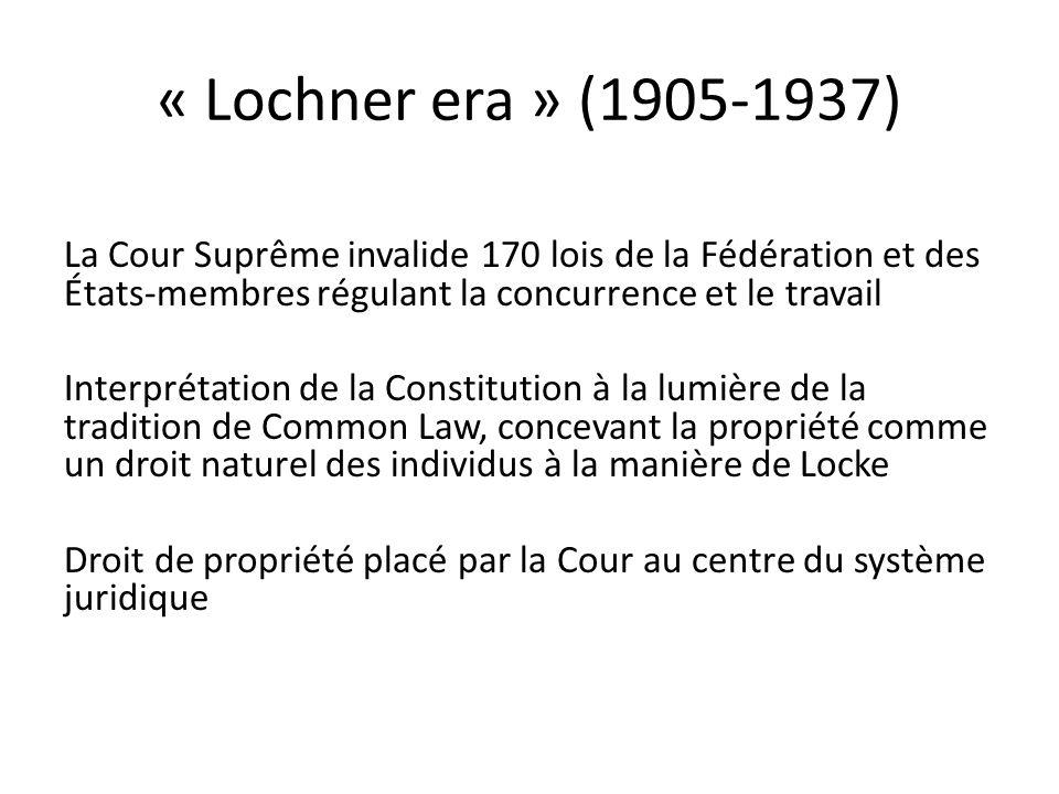 « Lochner era » (1905-1937)
