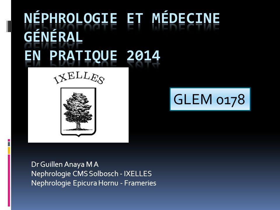 Néphrologie et médecine général En pratique 2014