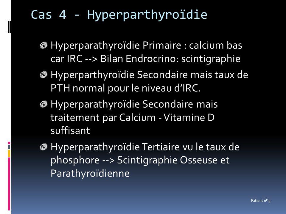 Cas 4 - Hyperparthyroïdie
