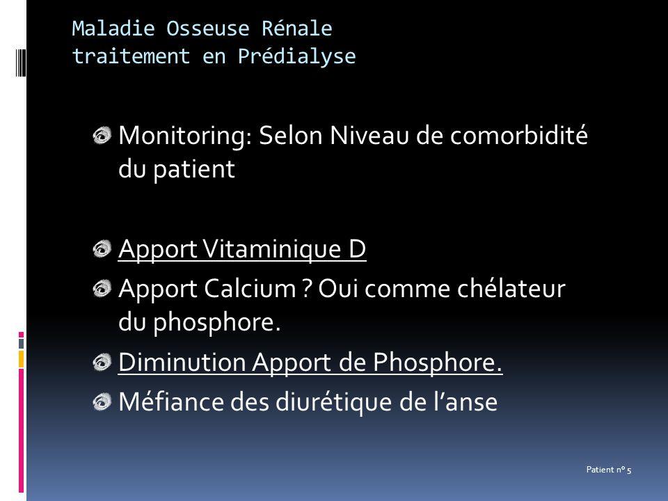 Maladie Osseuse Rénale traitement en Prédialyse