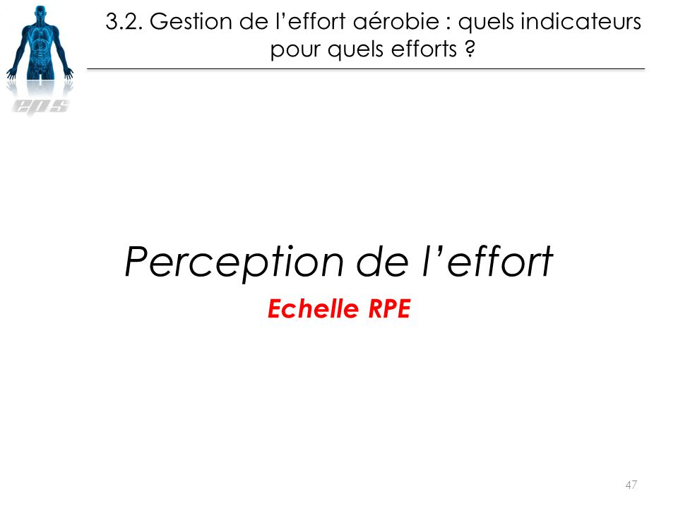 Perception de l'effort