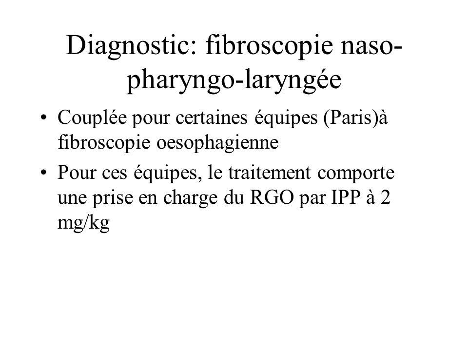 Diagnostic: fibroscopie naso-pharyngo-laryngée
