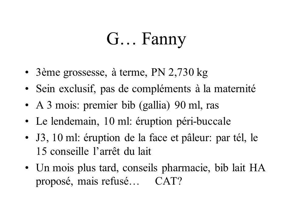 G… Fanny 3ème grossesse, à terme, PN 2,730 kg