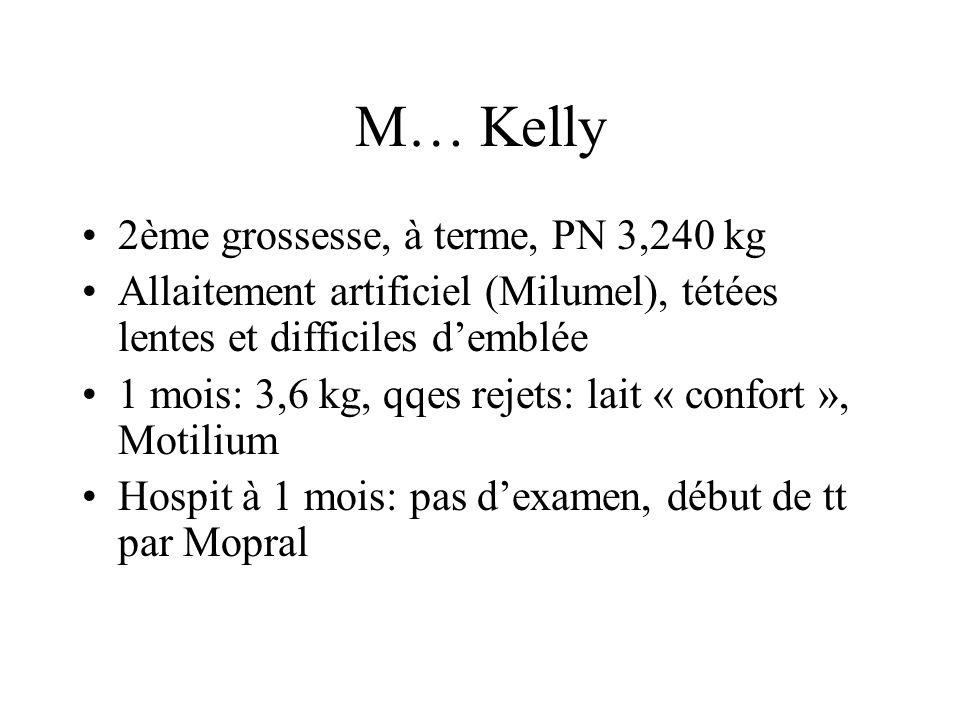 M… Kelly 2ème grossesse, à terme, PN 3,240 kg