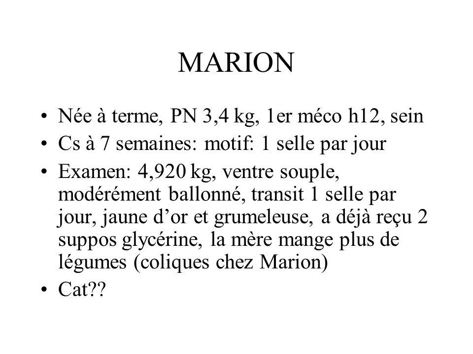 MARION Née à terme, PN 3,4 kg, 1er méco h12, sein