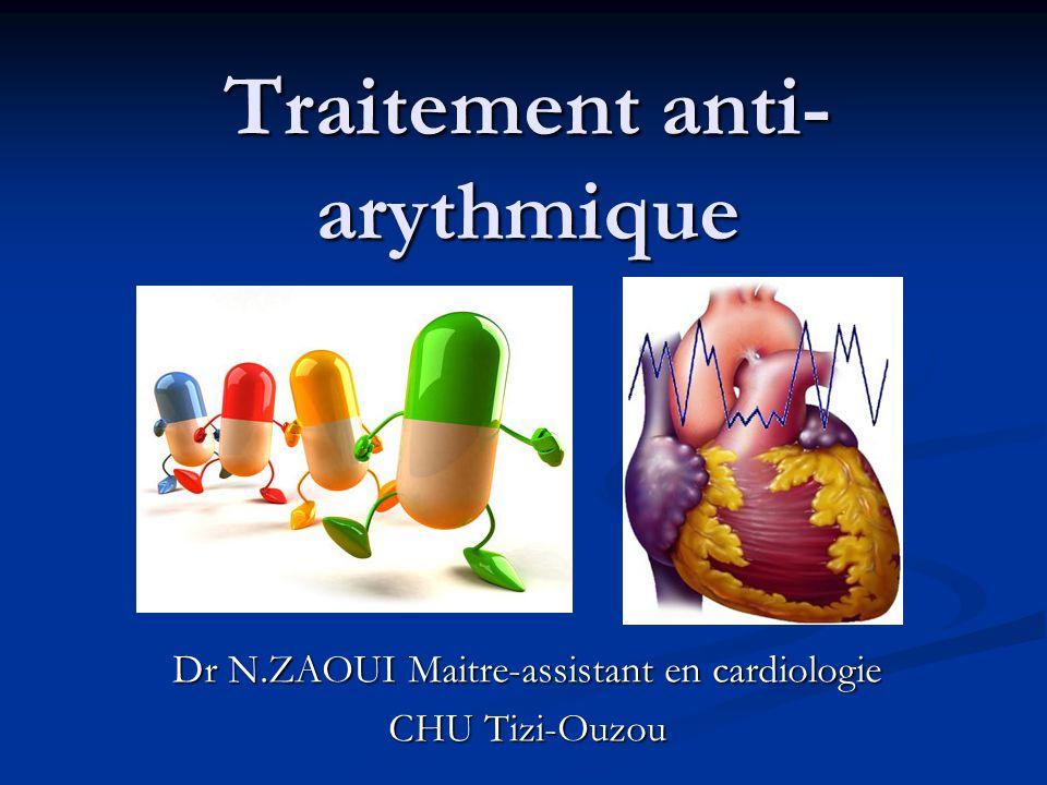 Traitement anti-arythmique