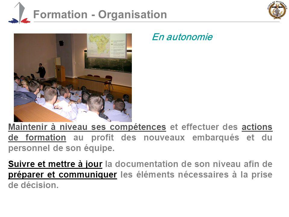 Formation - Organisation