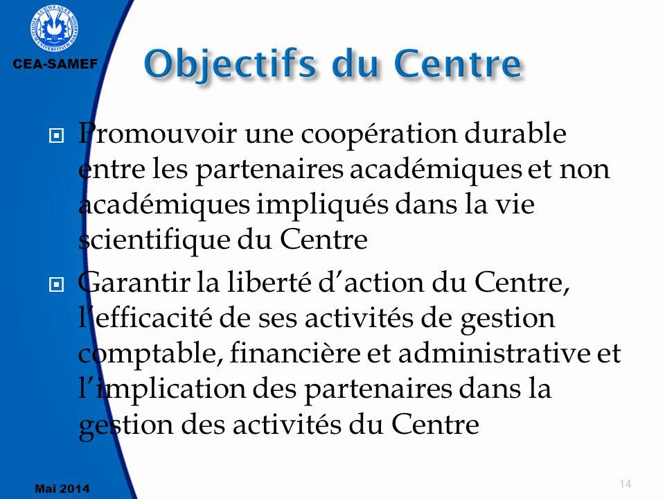 Objectifs du Centre