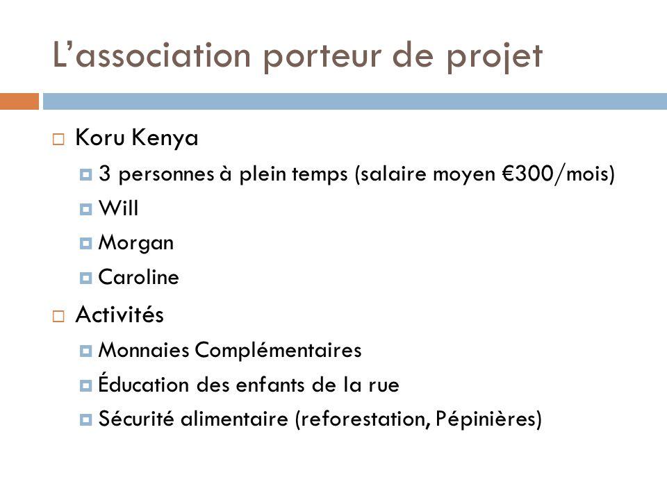 L'association porteur de projet