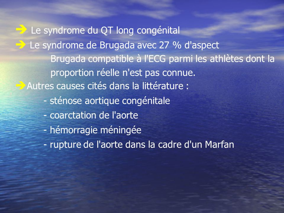 Le syndrome du QT long congénital