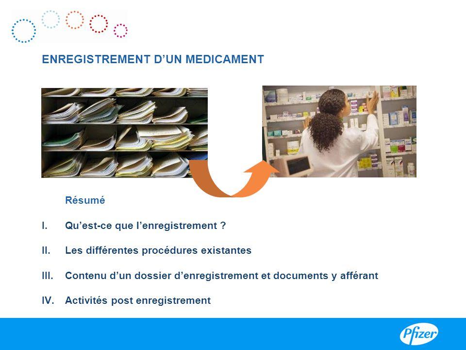 ENREGISTREMENT D'UN MEDICAMENT