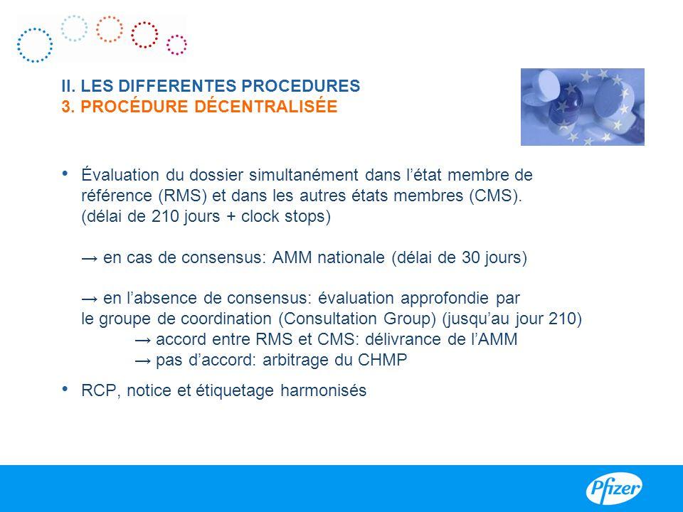 II. LES DIFFERENTES PROCEDURES 3. PROCÉDURE DÉCENTRALISÉE