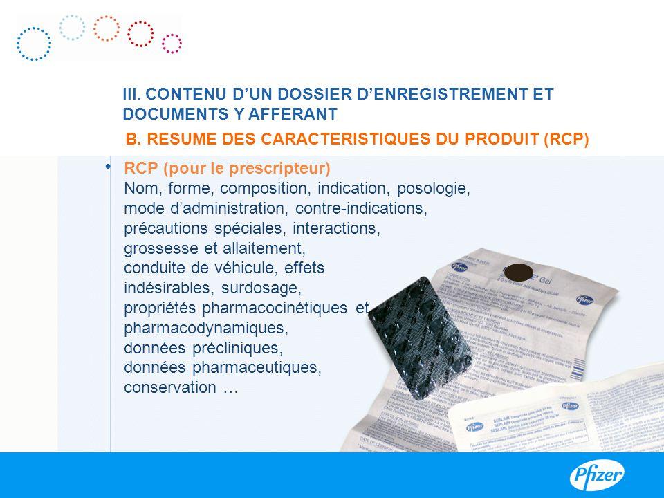B. RESUME DES CARACTERISTIQUES DU PRODUIT (RCP)