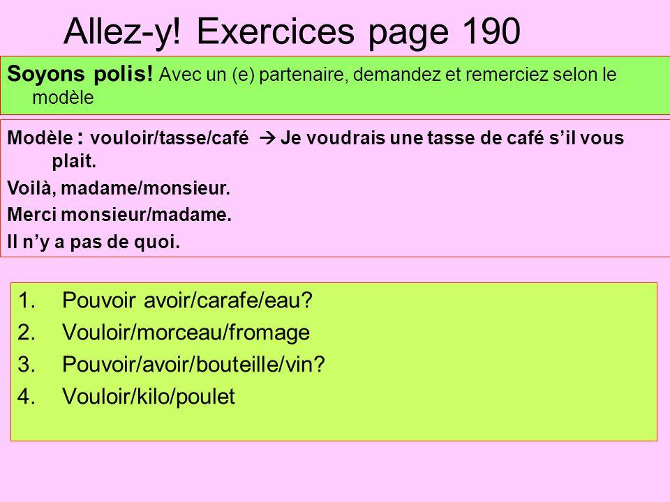 Allez-y! Exercices page 190