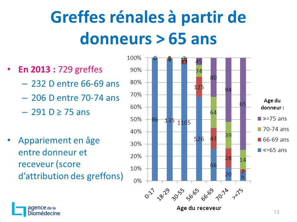Greffes rénales à partir de donneurs > 65 ans