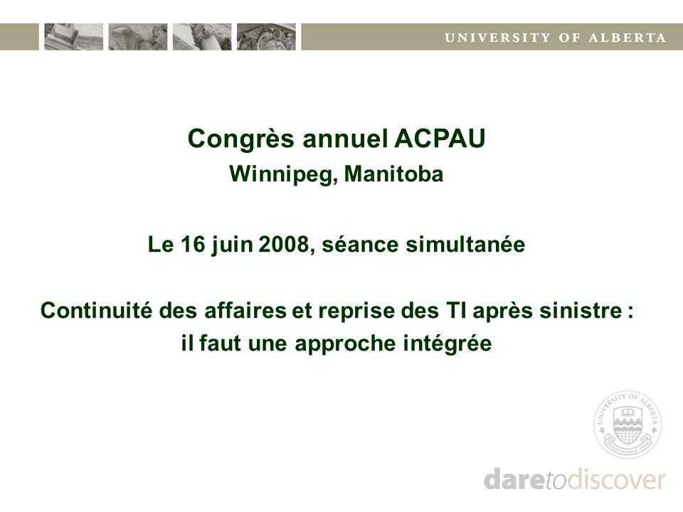 Congrès annuel ACPAU Winnipeg, Manitoba