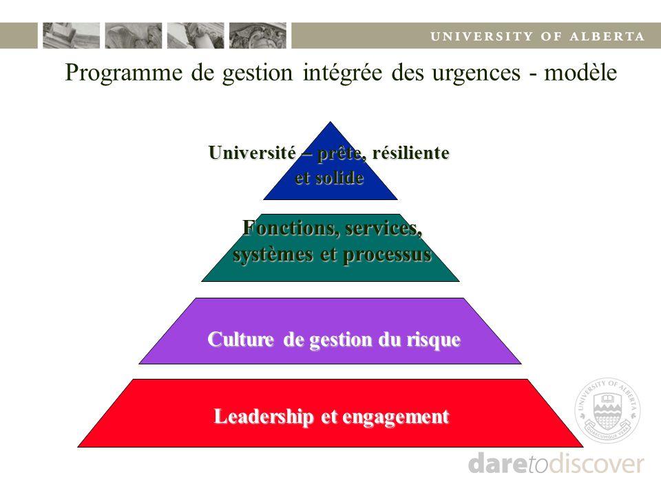 Programme de gestion intégrée des urgences - modèle