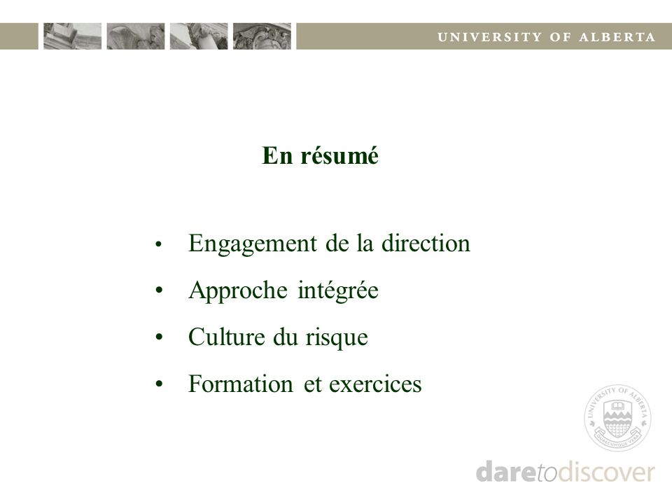 Formation et exercices