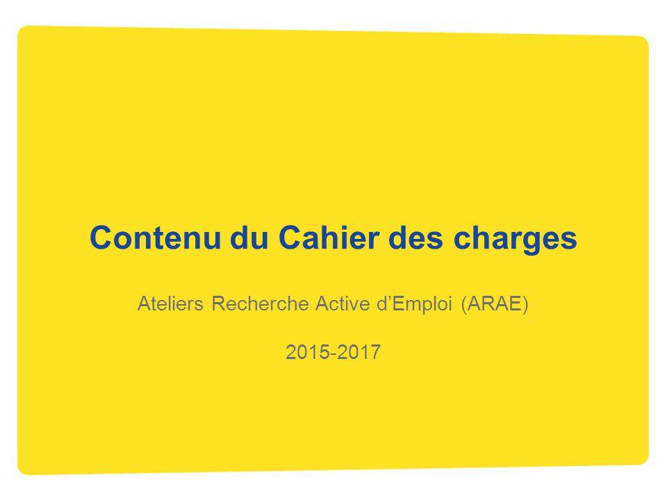 Contenu du Cahier des charges