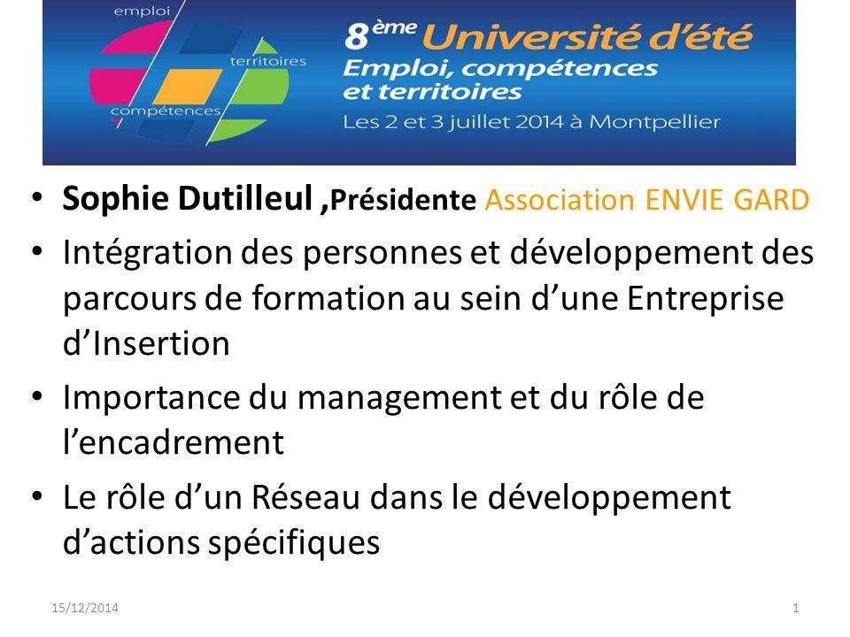 Sophie Dutilleul ,Présidente Association ENVIE GARD