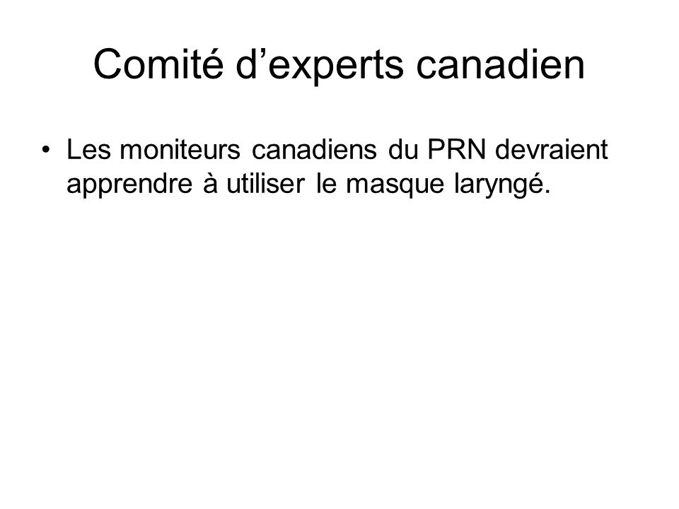Comité d'experts canadien