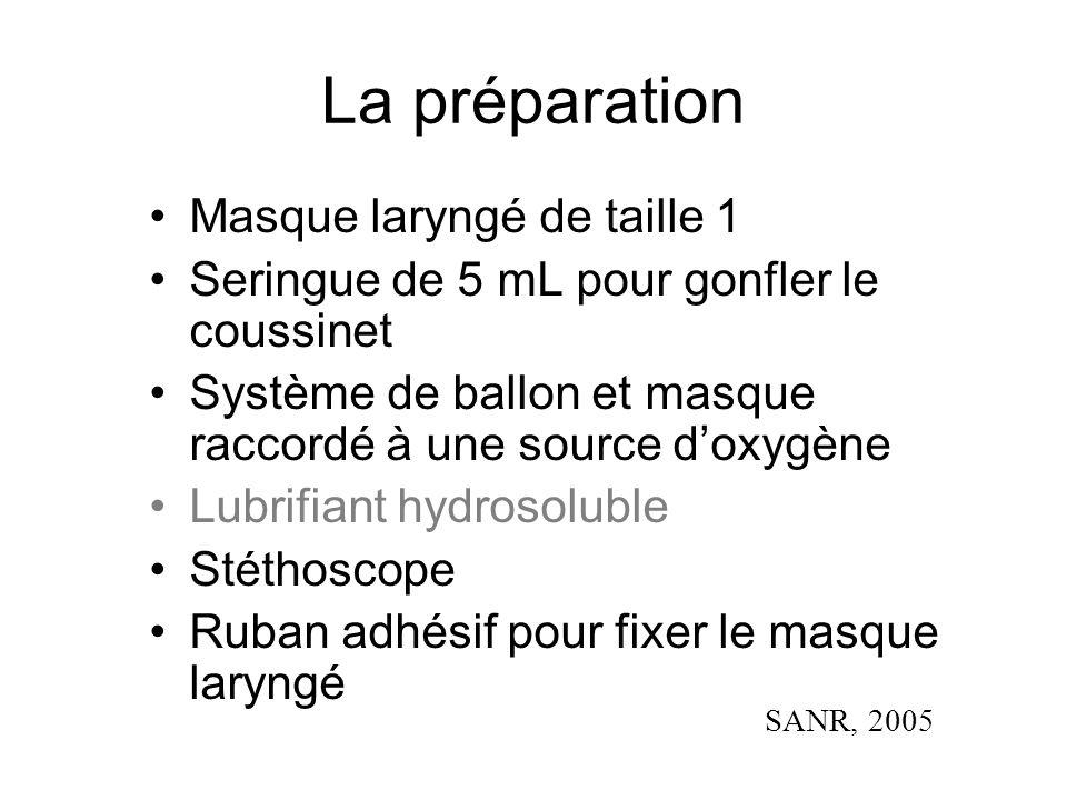 La préparation Masque laryngé de taille 1